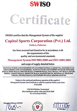 Capital FIFA Approved  Licensing Certificate